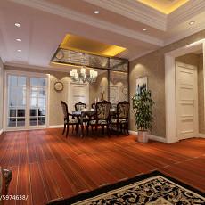 热门面积92平欧式三居餐厅装修设计效果图片大全