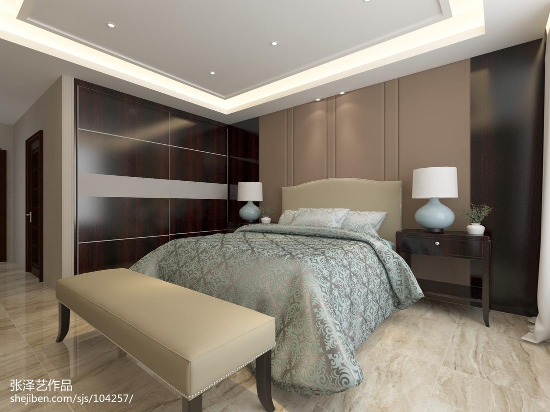 精选面积80平现代二居卧室装修效果图