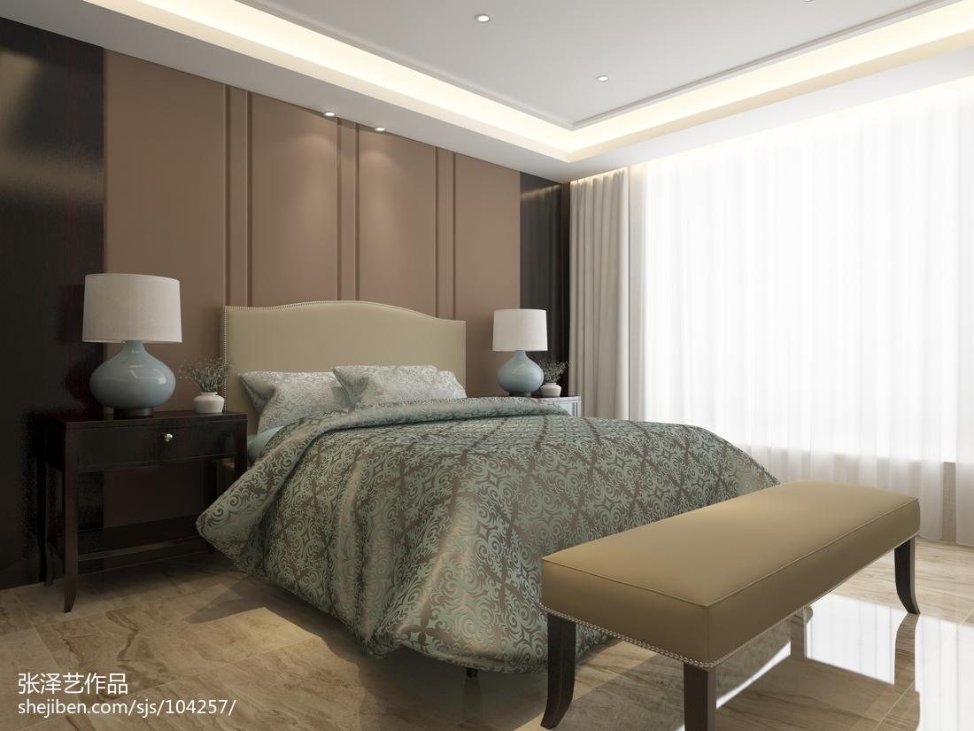 201878平方二居卧室现代效果图片大全
