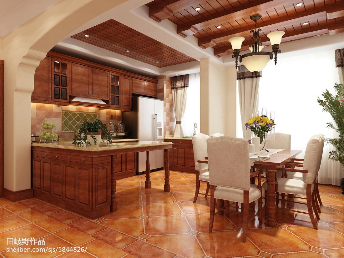 97平米三居餐厅美式装修设计效果图片大全