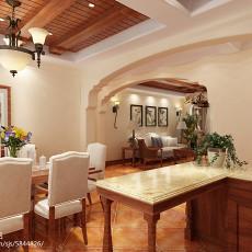 热门面积104平美式三居餐厅装修实景图片大全