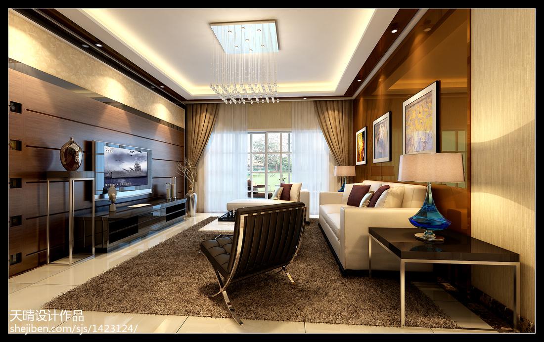 简约两室一厅设计效果图片