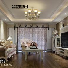 2018精选面积124平欧式四居客厅装修设计效果图片大全