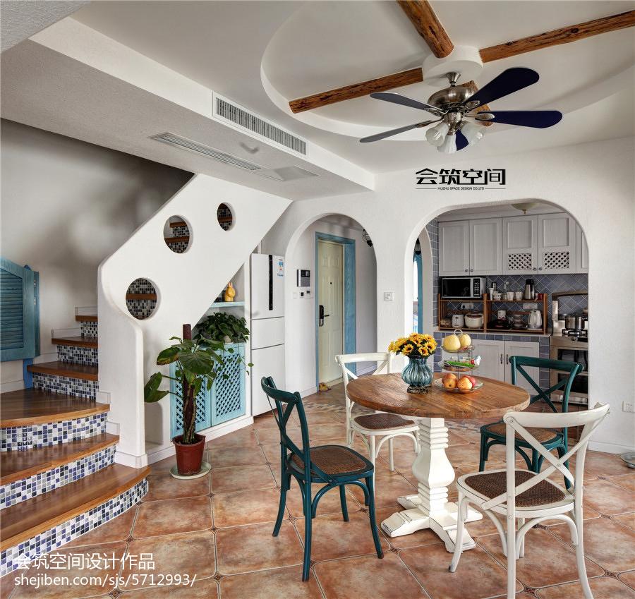 精选面积113平复式餐厅地中海装修效果图