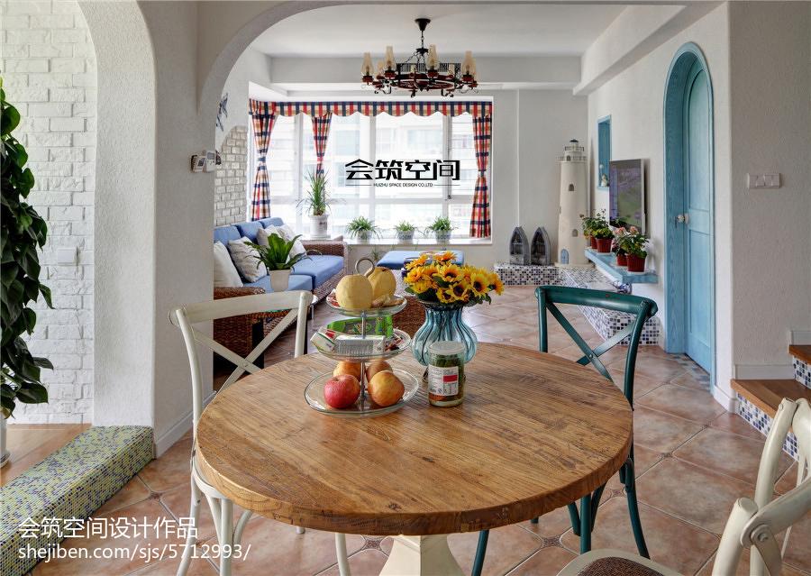 2018精选面积138平复式餐厅地中海装修欣赏图片大全