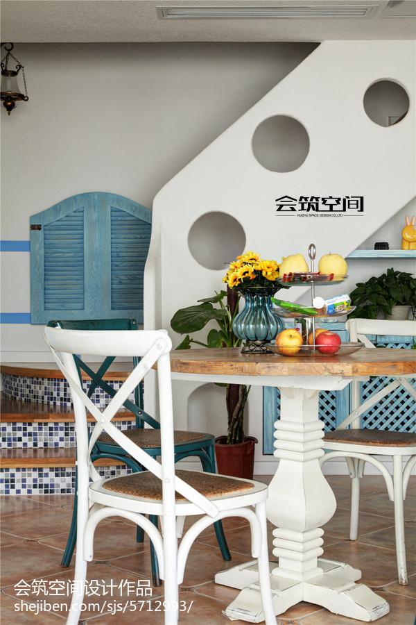 2018122平米地中海复式餐厅装修效果图片欣赏