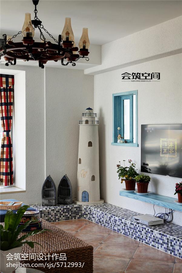 热门112平米地中海复式客厅装修效果图