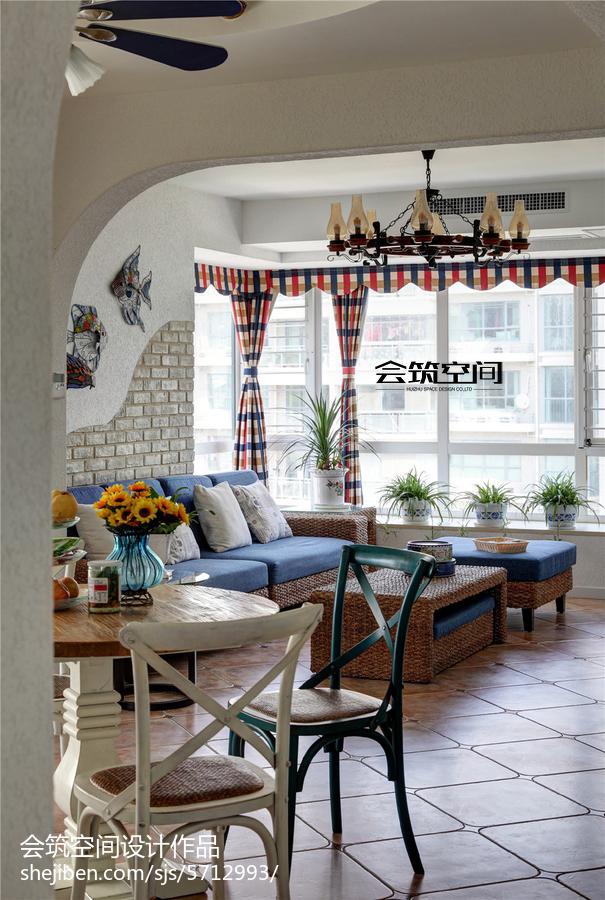 热门地中海复式客厅装修设计效果图片欣赏