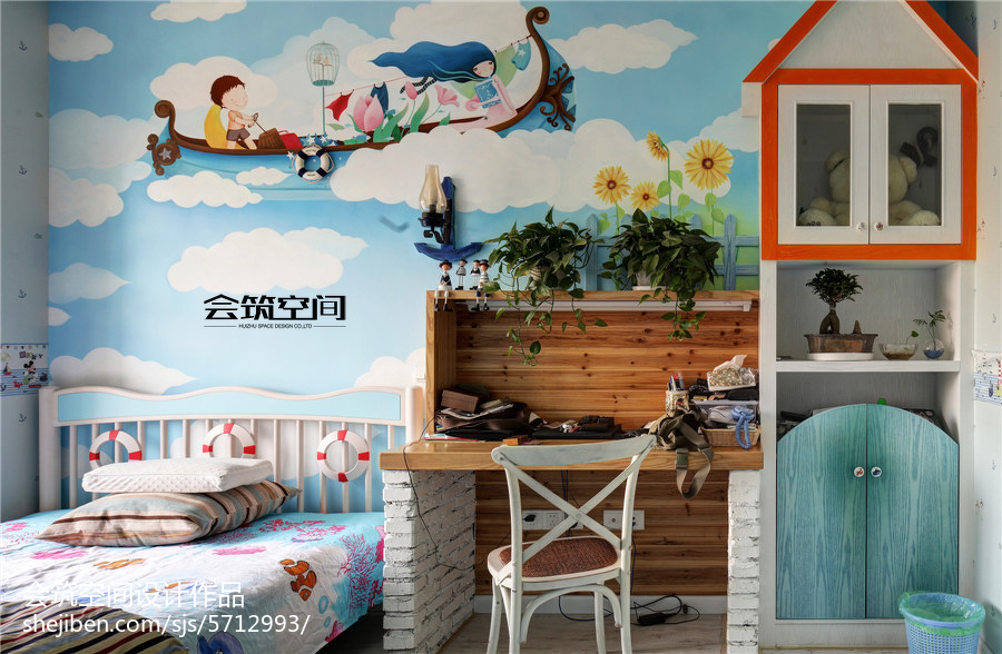 热门复式儿童房地中海设计效果图