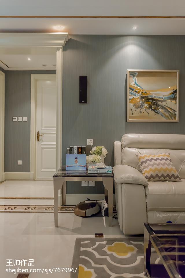 热门大小99平欧式三居客厅装修欣赏图片