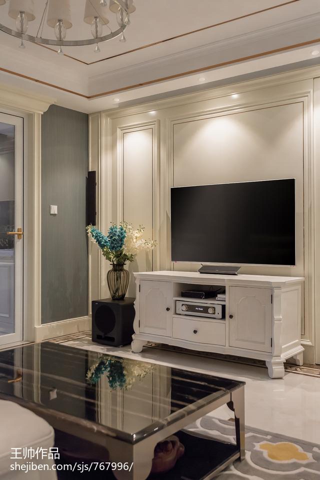 精美面积100平欧式三居客厅装修设计效果图片欣赏