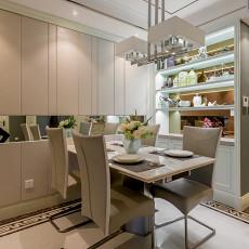 2018面积96平欧式三居餐厅实景图