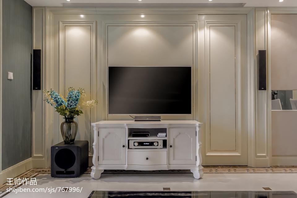 精美大小106平欧式三居客厅装修欣赏图片