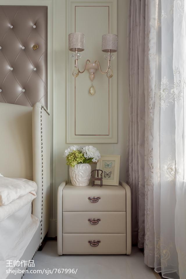 华丽114平欧式三居卧室装修设计图