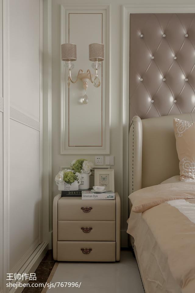 热门面积101平欧式三居卧室装修欣赏图片大全