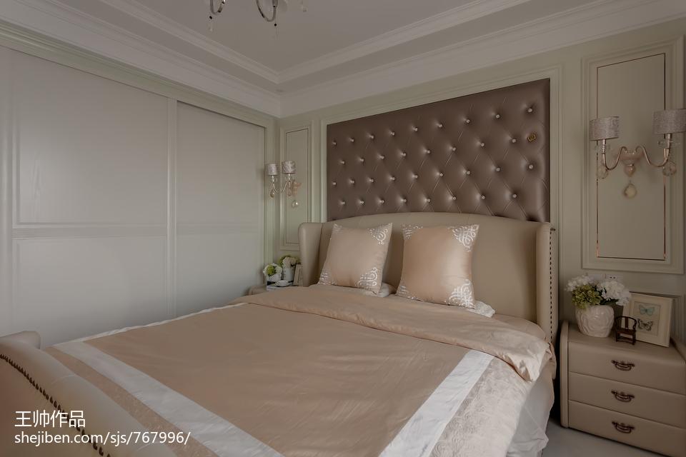 热门面积100平欧式三居卧室效果图片