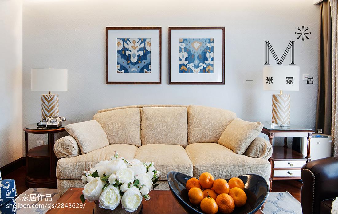 精美96平方三居客厅美式装修图片欣赏