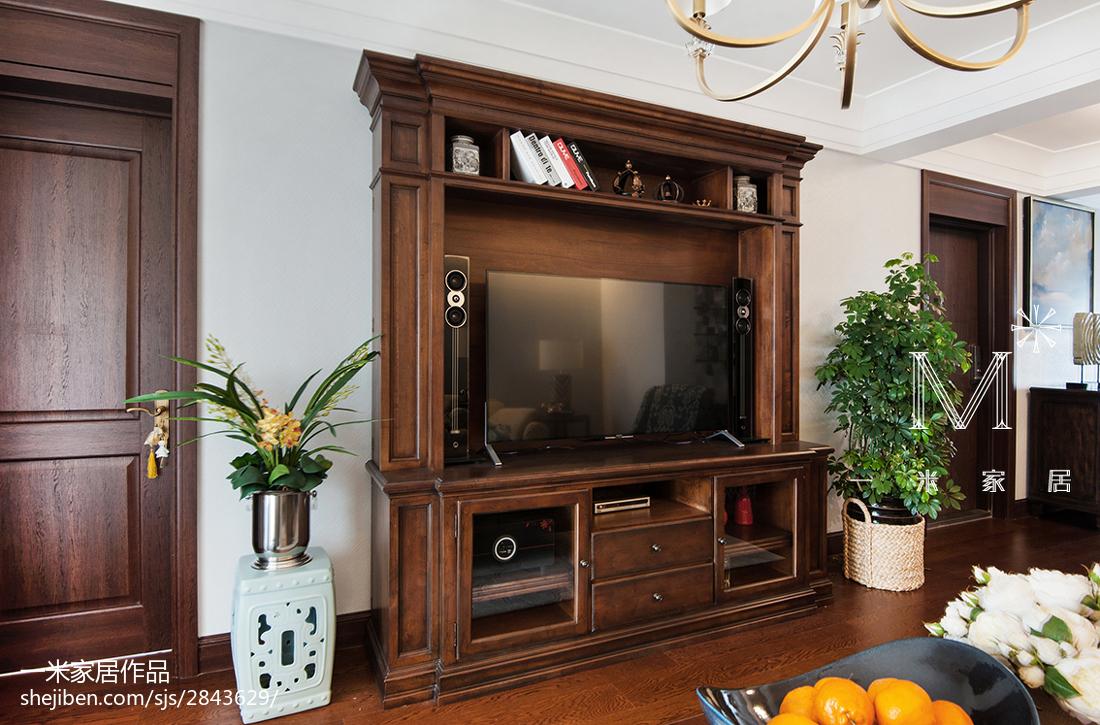精选99平方三居客厅美式装饰图片