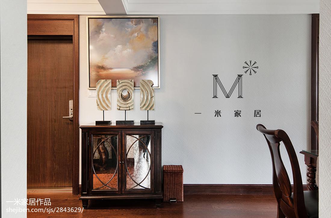 热门大小100平美式三居餐厅装饰图