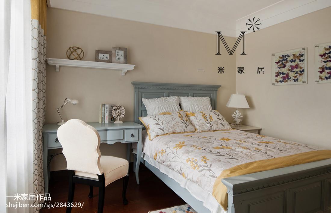 201898平米三居卧室美式装修实景图片欣赏