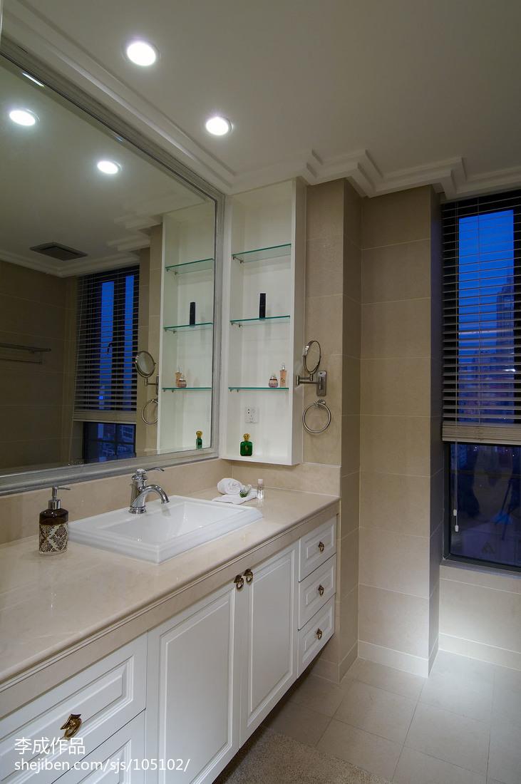 90平米现代风格卫生间厨房瓷砖效果