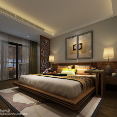 三居卧室东南亚装修设计效果图片大全
