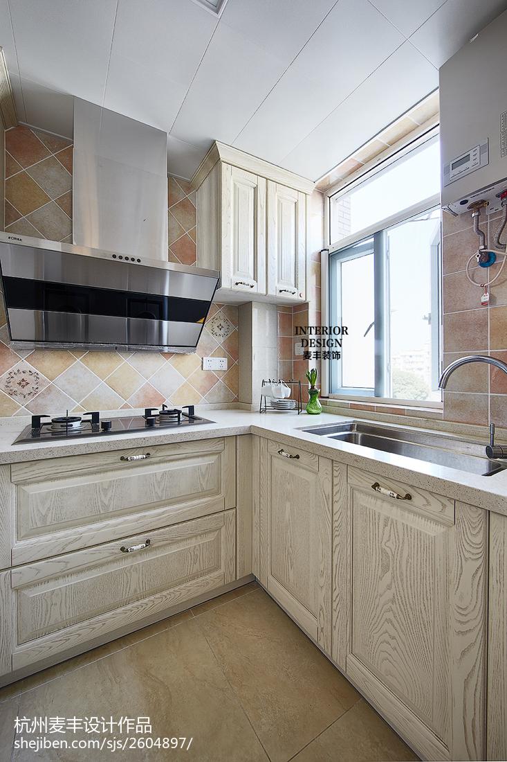 簡約美式廚房窗戶裝修效果圖欣賞