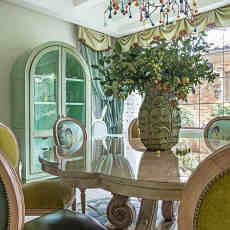面积128平别墅餐厅美式装修设计效果图片欣赏