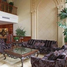 2018面积117平别墅客厅欧式装修设计效果图片大全