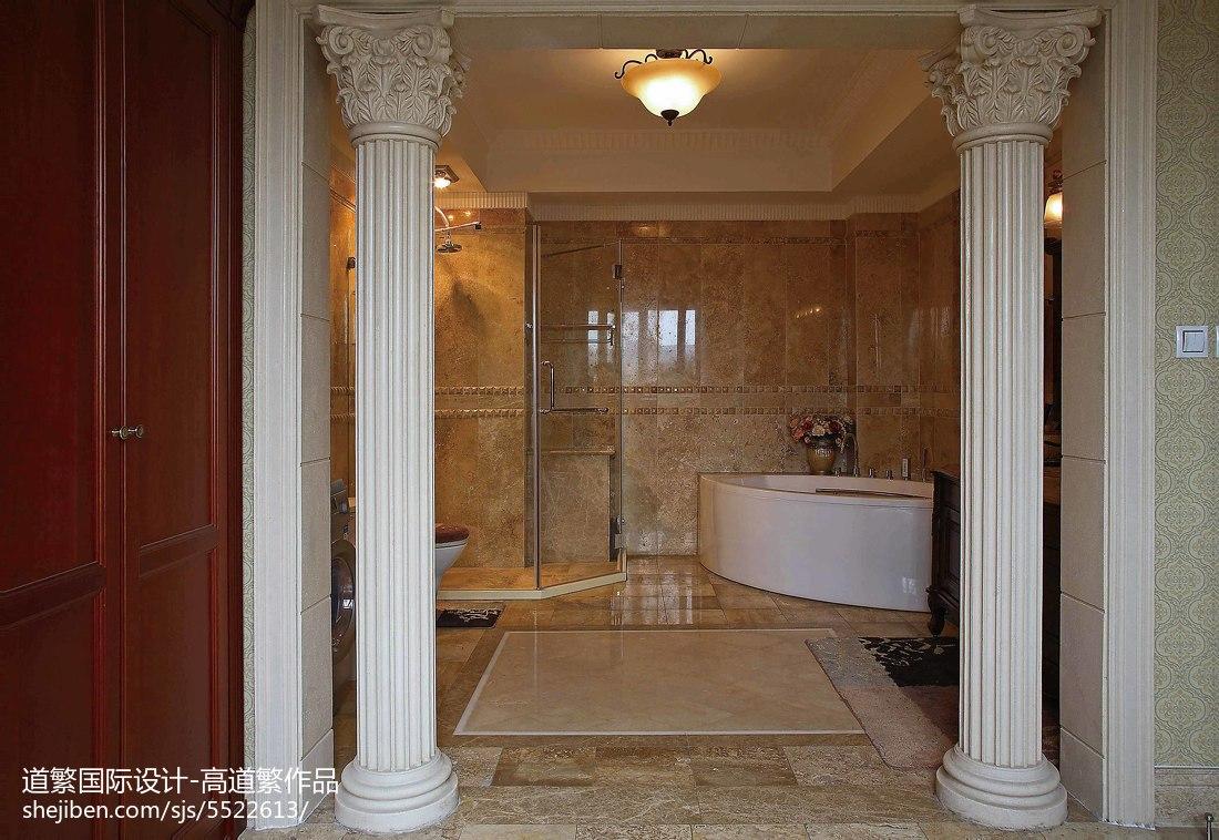 熱門121平方歐式別墅衛生間裝修實景圖