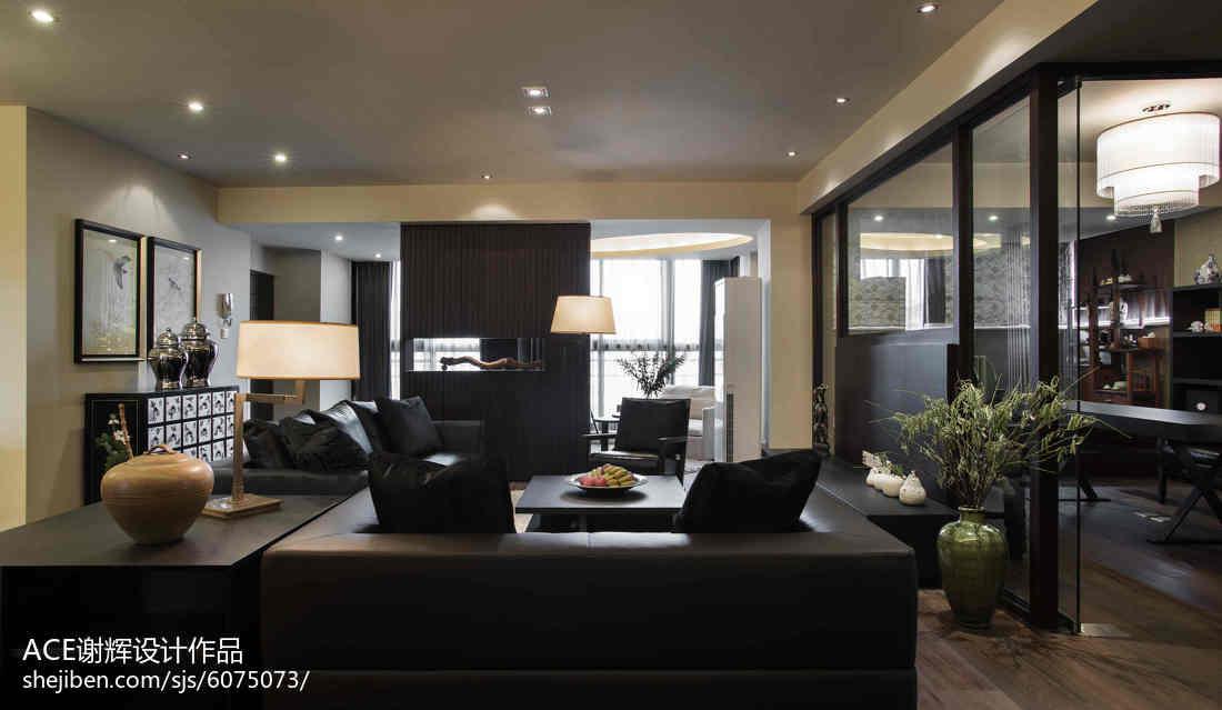 精美118平米中式别墅客厅装修图片