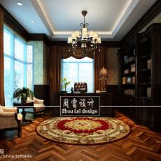 2018精选132平米美式别墅书房效果图片欣赏