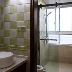 热门大小104平美式三居卫生间效果图片大全