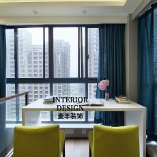 现代简约书房落地窗设计