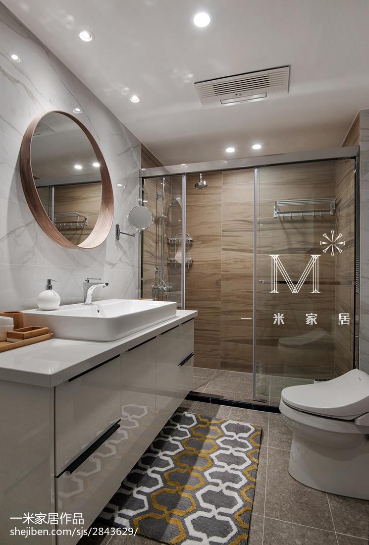 現代北歐衛生間淋浴房設計