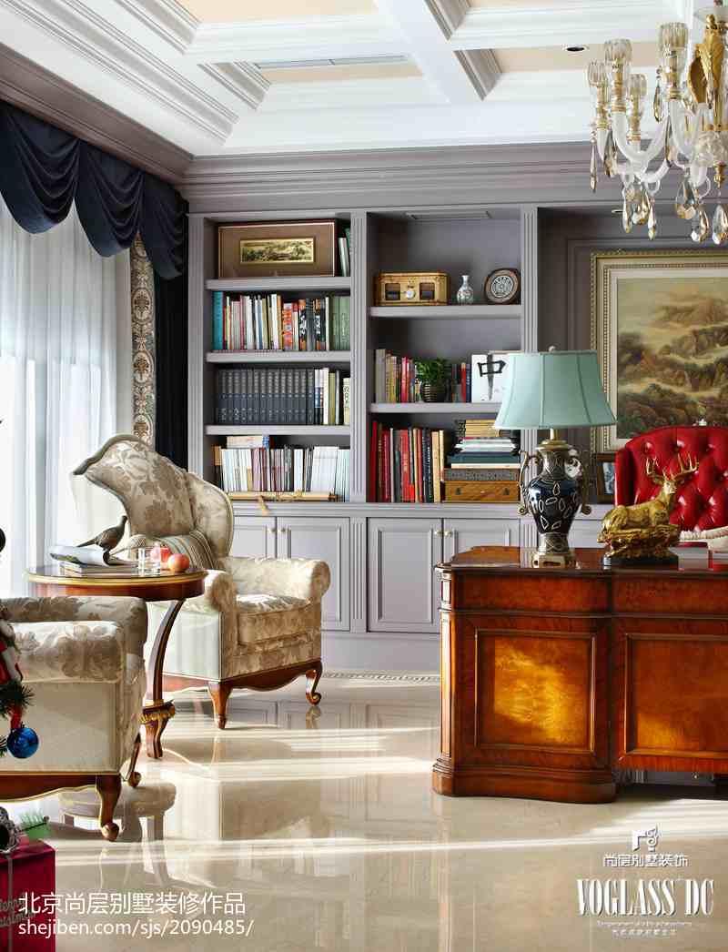 125平方混搭别墅书房装修设计效果图片大全