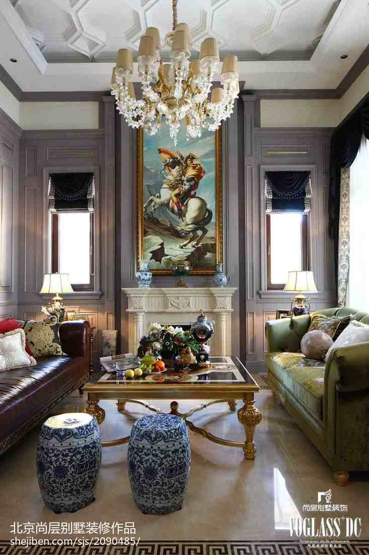 面积138平别墅客厅混搭实景图片欣赏