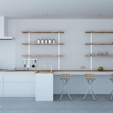 热门80平米二居厨房现代装修设计效果图片大全