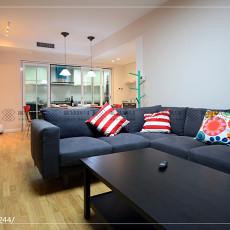 2018108平方三居客厅现代装饰图片