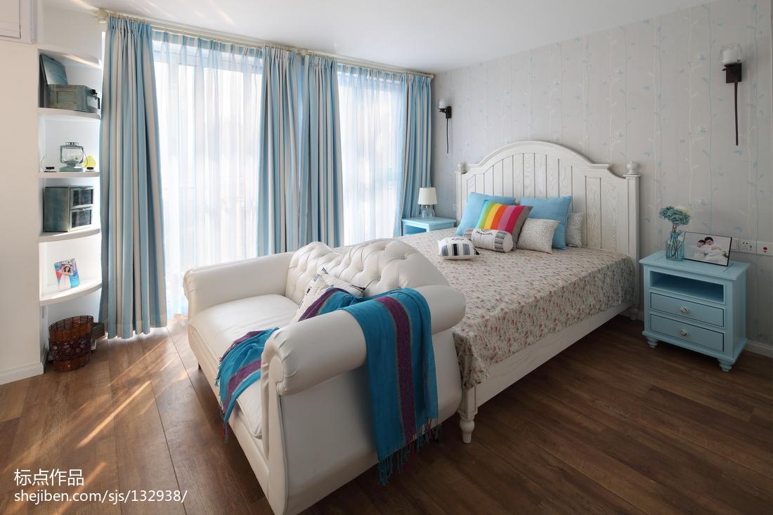 优雅80平地中海复式卧室效果图欣赏