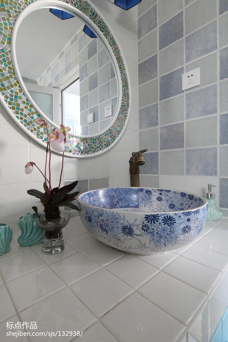 华丽48平地中海复式卫生间装饰图