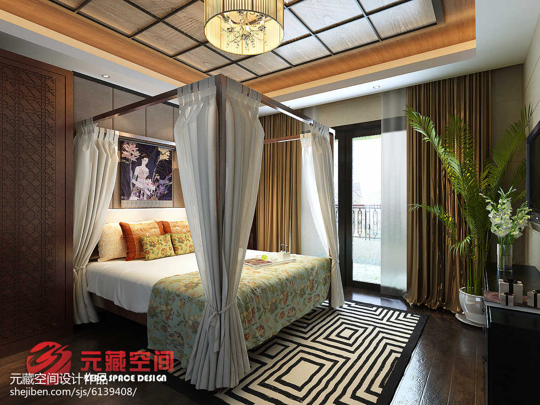 东南亚复式卧室设计图片