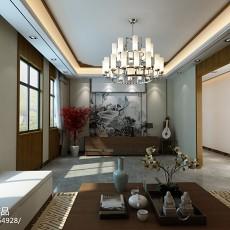 面积127平中式四居客厅装修图片大全