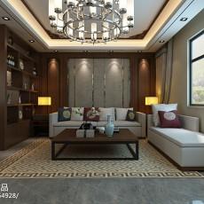 2018121平方四居客厅中式装修欣赏图