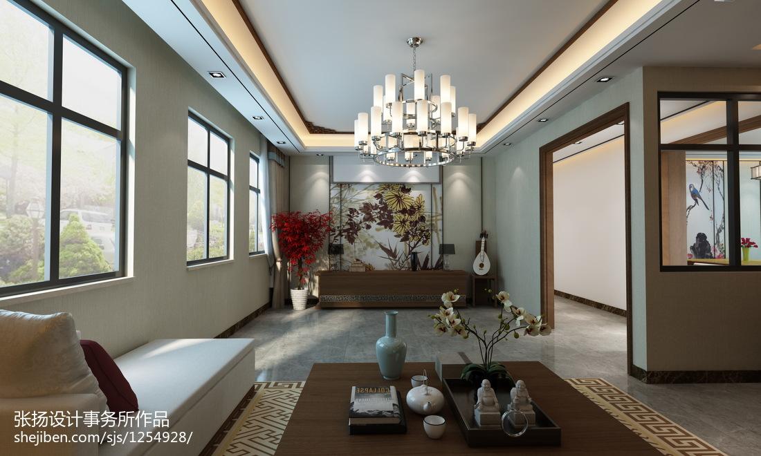 中式客厅墙纸效果图