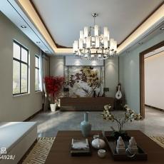 2018精选121平方四居客厅中式装修效果图片欣赏