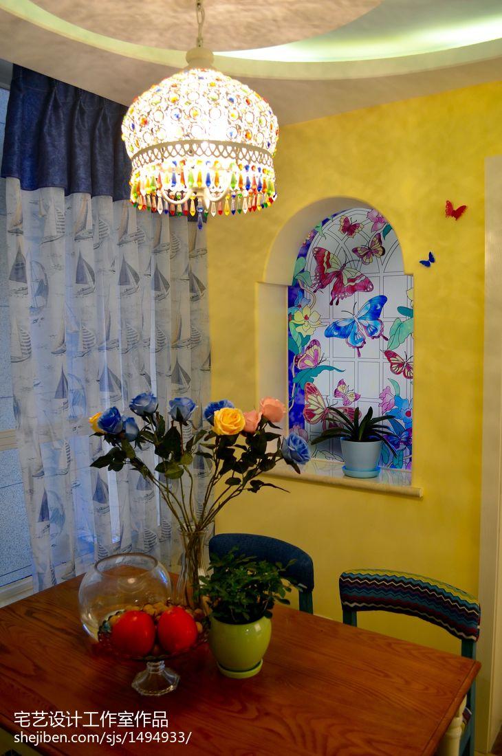 热门84平米二居餐厅地中海设计效果图
