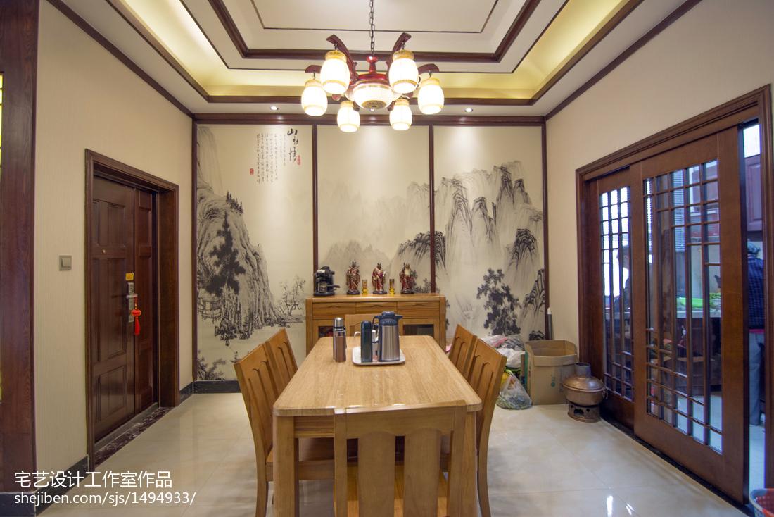 面积144平别墅餐厅中式装修图片大全