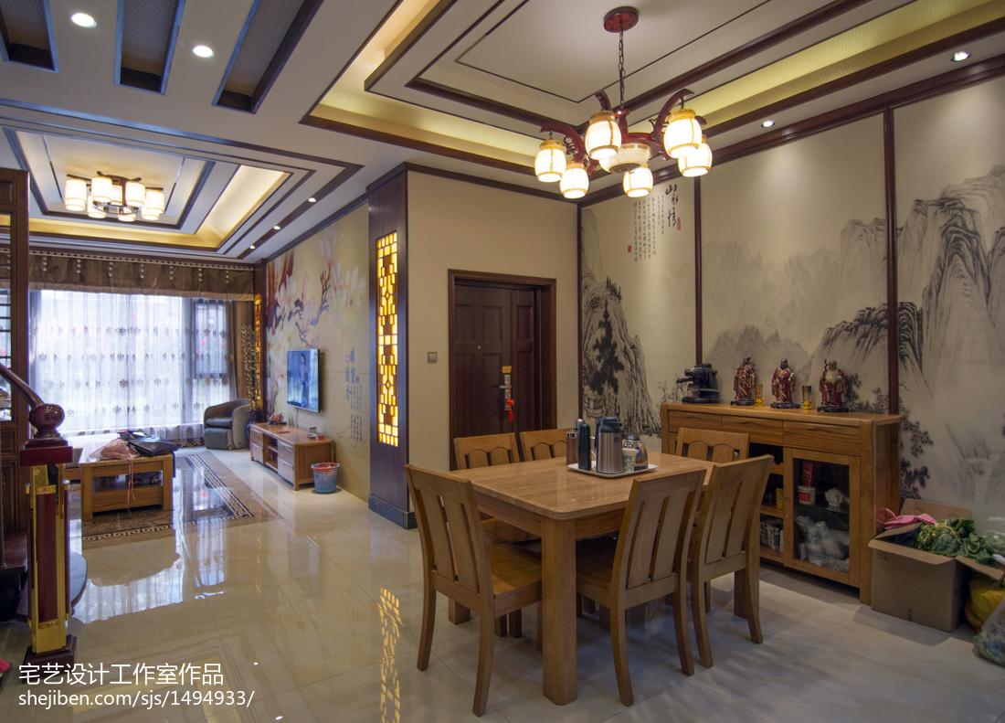 精选面积117平别墅餐厅中式效果图片欣赏