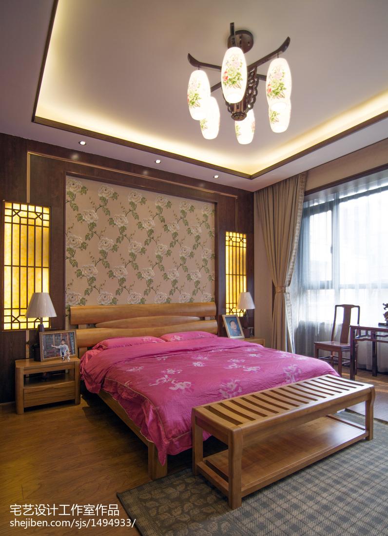 精选140平米中式别墅卧室实景图片欣赏